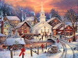 Christmas Painting by Chuck Pinson