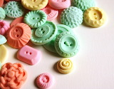 Pastel Peppermint Candy Buttons by Andie's Specialty Sweets