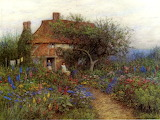 A Cottage near Brook, Witley, Surrey ~ Helen Allingham