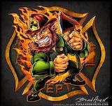 St. Patrick's Day Leprechaun Firefighter