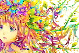 AnNiEwAnNiE Image Colorful Anime Girl