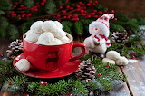 ^ Cup Saucer Pine Cone Cookies Snowman