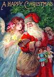 Father Christmas w Angel~ Edwardian Christmas card