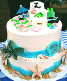 Beach lover's cake @ Sweet Art Factory