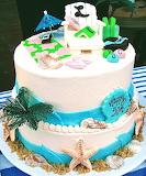 Beach lover's cake @ Sweet Art Factory