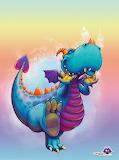 Happy Colourful Dragon by Gidgeymo