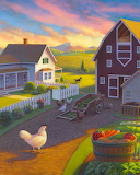 Chickens and produce - Robin Moline