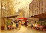 Edouard Cortès, Marché Aux Fleurs à la Madeleine