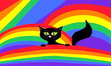 Colours-colorful-black cat and rainbows-by avricci-fullview