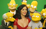 Katy Perry and The Simpsons' puppets