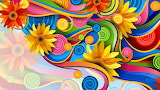 Bright colorful swirls