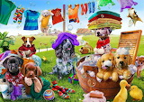 ☺♥ Cute laundry helpers...