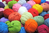 Balls and balls of colorful yarn