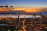 Sunset over Cartagena Harbor Columbia