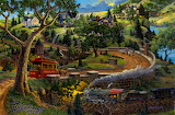 beautiful view mountain village