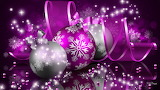 Purple & silver christmas tree ornaments