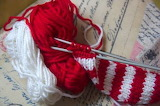 Knitting and postcards