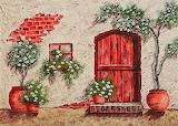 floral house facade
