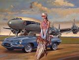 girl car plane
