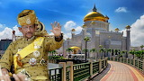 Brunei sultan and his palace