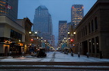 Stormy Morning in Downtown Calgary Canada