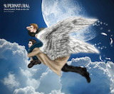 Supernatural fanart dean castiel walk in the air by noji1203-d8e