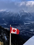 Canadian Flag and scenery