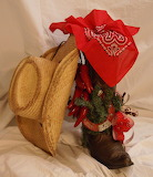 ^ Boot, chili peppers, red bandana, horseshoe and straw hat