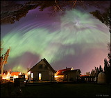 "Space TWAN ""Aurora in Back Yard"" ""©P-M Heden"" ""Vallentuna, Swede"