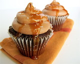 ^ Chocolate caramel cupcake