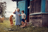 playing with grandmother