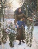 Last Flowers, Jules Breton