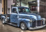 Chevy pickup blue