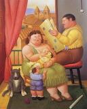 """""""A Family"""" - Fernando Botero (2000)"""