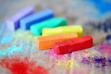 Rainbow Coloured Chalks...