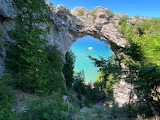 Mackinac Island Arch Rock by Cassandra Delfsma