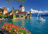 Lake-house-switzerland-view-landscape-boat-flowers