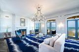 Blue Modern Carpet in Oceanfront Room
