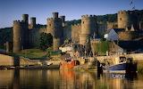 ^ Conwy Castle, North Wales