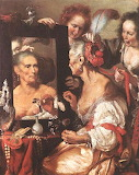 Old Woman at the Mirror ~ Bernardo Strozzi