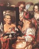 Old Woman at the Mirror ~ Bernardo Strozzi