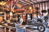 Inside an old garage By K.Welsh