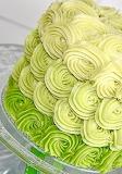 Ombre cake up close