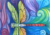 Groovy Dragonfly Spirit by Sarah Jane