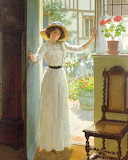 At The Cottage Door ~ William Henry Margetson