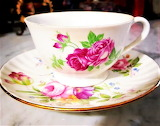 #Floral Teacup and Saucer