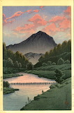 "Art tumblr dogstardreaming ""Kawase Hasui"" ""Hida Kamagadake Water"