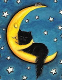 moon with cat
