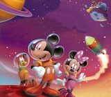 Mickey and Minnie in Space