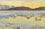 Ferdinand Hodler, Maggia delta before sunrise, 1892